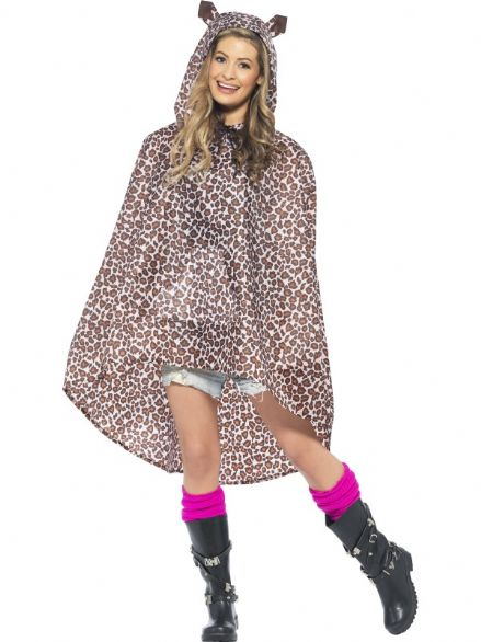 Party Poncho - Leopard